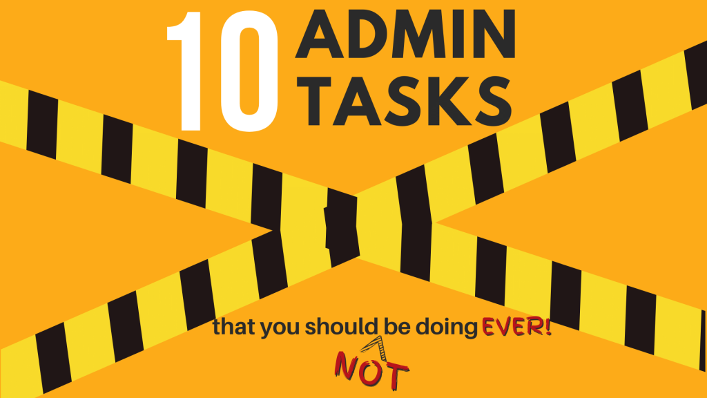 10 admin task featured image