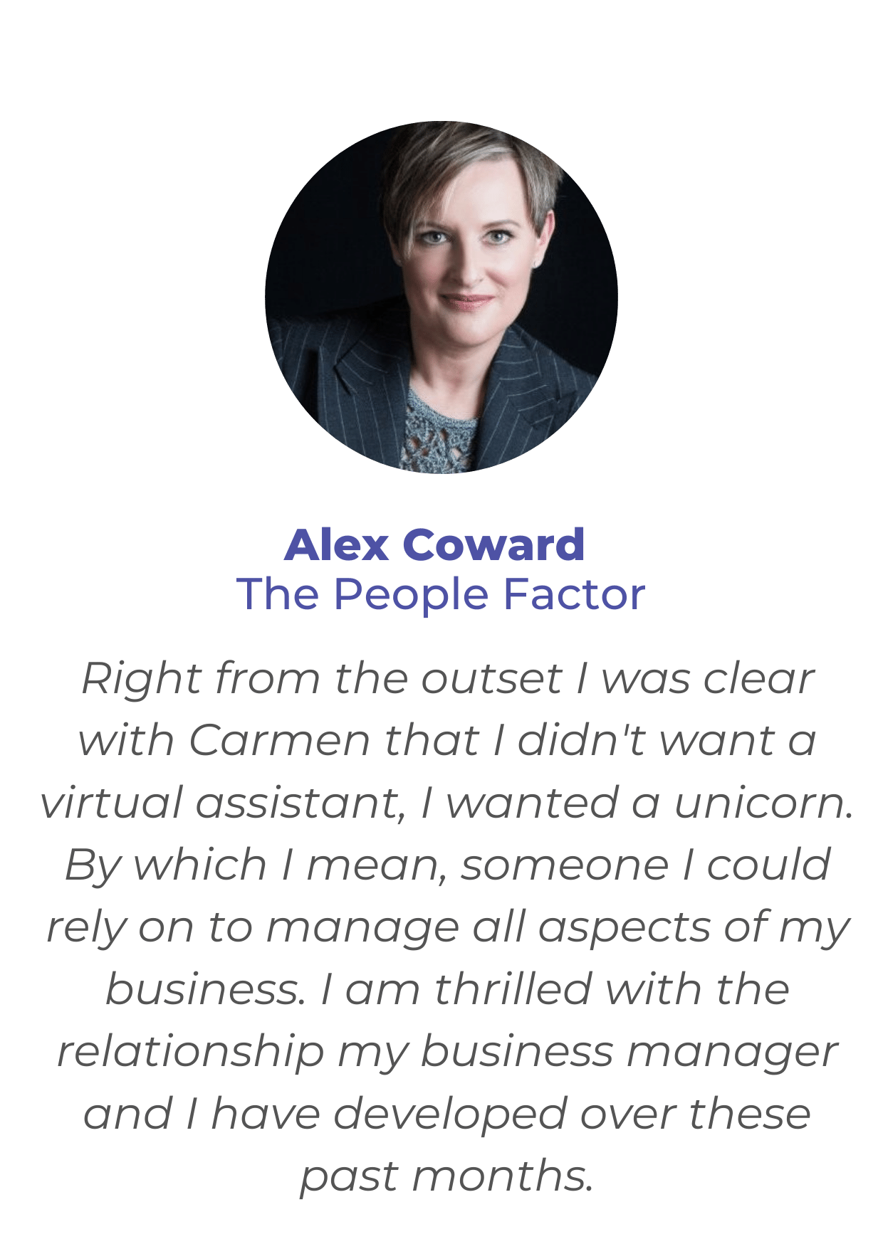 Virtual Assistant Support - Client Testimonial